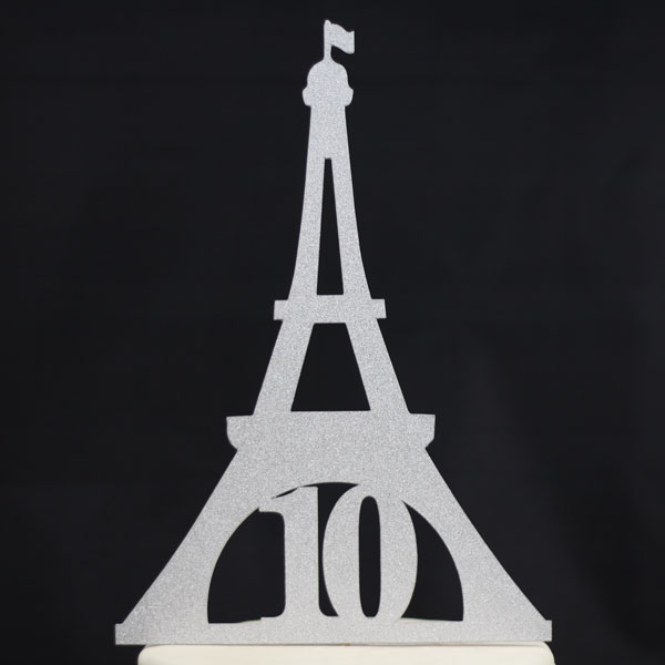 Custom Eiffel Tower Birthday Cake Topper