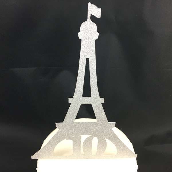 Customizable Eiffel Tower Birthday Cake Topper