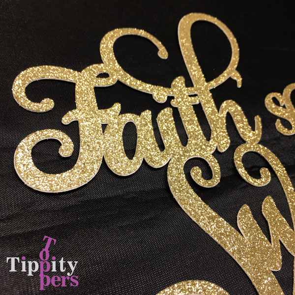 Customized Sweet sixteen cake topper
