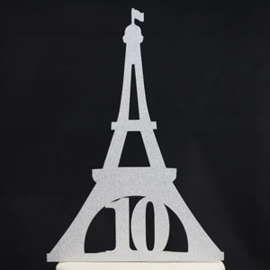 Eiffel tower for 10 year old birthday Cake Topper