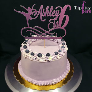 Customizable ballerina birthday cake topper