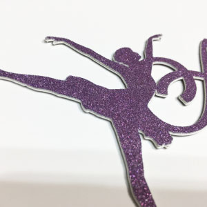 Personalized Ballerina Cake Topper