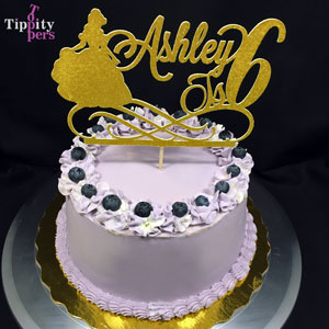 Belle Happy Birthday hand made custom cake topper