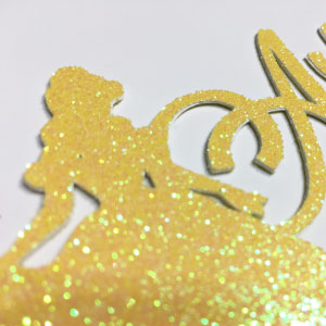 Belle Customizable birthday cake topper