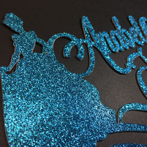 Personalized Cinderella Cake Topper