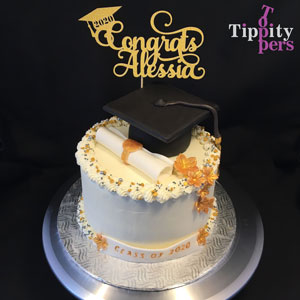 Personalized Graduation Cake topper Includes Name and Year