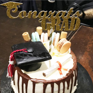 Congrats Grad Cake Topper for Graduation or Prom