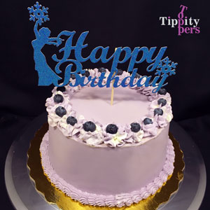 Frozen Elsa birthday cake topper