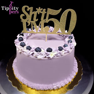 50th birthday cake topper